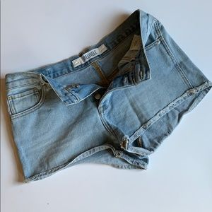 BRANDY MELVILLE High Waisted Buttonfly Shorts 28